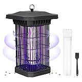 KOXXBASE Elektrischer Insektenvernichter, 18w Insektenfalle Mückenlampe mit UV Mücken Licht, Ungiftig Ohne Chemie Anti Mücken Lampe mit Steckdose zum Töten der Moskitos im Insekten für Innen, Schwarz