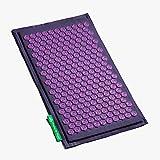 Akupressurmatte (mauve violett) - Original Blumenfeld Spitzenqualität mit Patentierten Lotusblumen - Natürliches Material, Schadstoff- und Milbenfrei, Kokosfaser und Naturleinen