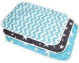 Lawei 3 Stück Wickelunterlage Waschbar Wasserdicht für Babys Kleinkinder Atmungsaktiv Wiederverwendbar Urin Matte Abdeckung - 3 Muster, 50 x 70 cm