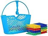 com-four®77-teiliges Set mit WäscheklammernundWäscheklammerkorb KlassischeWäscheklammernintrendigenFarben (Set04-77-teilig)