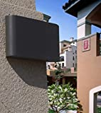 JIANRUI LED Außenwandleuchten Wandleuchte Wasserdicht IP65 Innen/Außen Wandlampe Aussenleuchte Wandbeleuchtung Up Down Außenwandleuchte Wandlampe, 6W 6000K, [Energieklasse A+]
