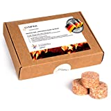 SYMPAA® Grillanzünder Bio Anzünder EXTRA Starke 15 min Brenndauer Qualitäts Kaminanzünder nachhaltig hergestellt aus natürlichen Rohstoffen in Deutschland   Profi Sparpack 35 Stück
