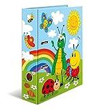 HERMA 19819 Ordner DIN A4 Kindergarten Frieda and Friends, 7 cm breit, stabiler Karton, farbiger Außen- und Innendruck im hochwertigen Design, Ringordner, Aktenordner, Büroordner, Motiv-Ordner