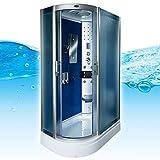 AcquaVapore DTP8060-7212L Dusche Dampfdusche Duschtempel Duschkabine 120x80, EasyClean Versiegelung:JA mit 2K Scheiben Versiegelung