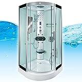 AcquaVapore DTP8046-6002 Dusche Dampfdusche Duschtempel Duschkabine 100x100 XL, EasyClean Versiegelung der Scheiben:Nein! +0.-EUR