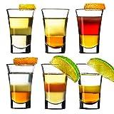 6er Schnapsgläser Shotgläser Set Glas 4cl , Pinnchen Gläser für Whisky, Tequila, Wodka und Liköre,Spühlmaschinenfest