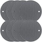 YAHAFI Topf Untersetzer silikon topfuntersetzer Silikon-Topffolie 8-teiliges Set, sicher, hitzebeständig, leicht zu reinigen, rutschfest hohe Temperatur 250 ° C, Wabensilikon-Topffolie (grau)