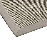 BODENMEISTER Sisal-Teppich modern hochwertige Bordüre Flachgewebe, verschiedene Farben und Größen, Variante: beige hell-grau, 60x110
