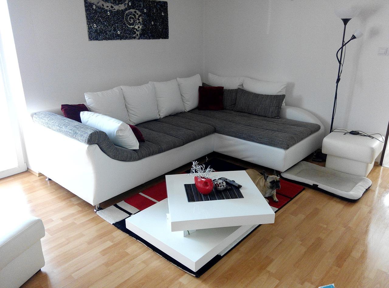 Ecksofa im Wohnzimmer