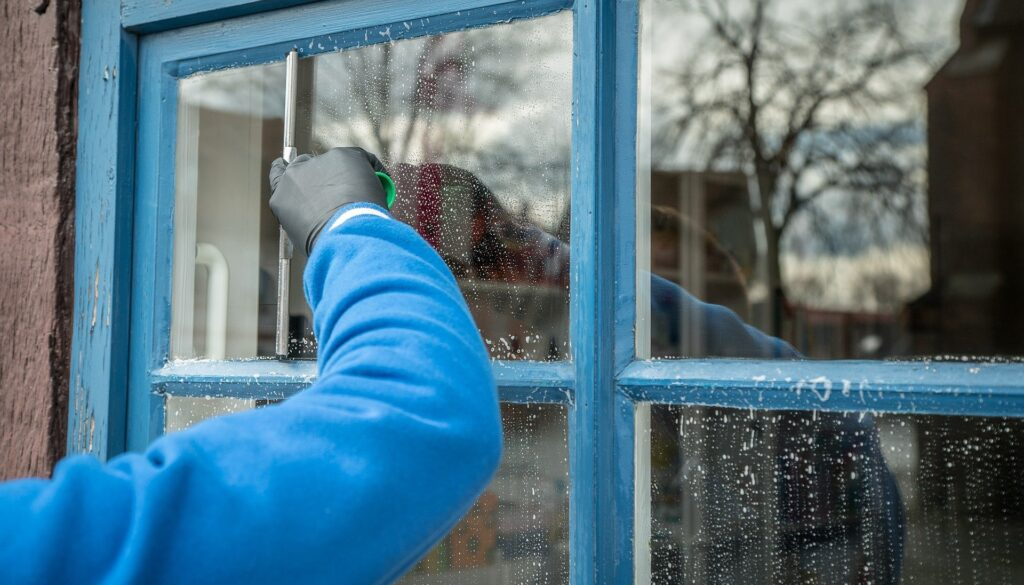 Fensterputzer hilfreich auch bei schweren Stellen